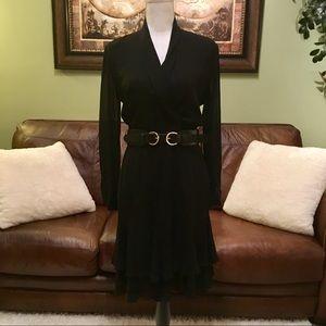 Dana Buchman black silk dress